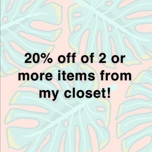 20% off 2 or more items